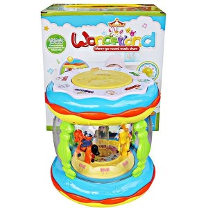 Wonderland Merry Go Round Music Drum (Baterai Charge + USB Cable + Colokan Mp3) CY6067B
