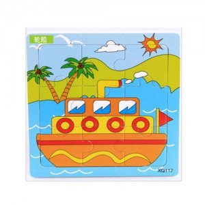 Puzzle Kayu Transport - Ship