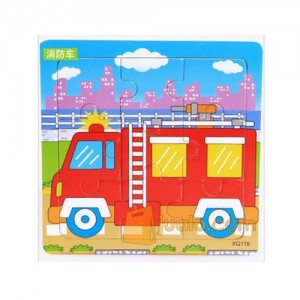 Puzzle Kayu Transport - Fire Truck