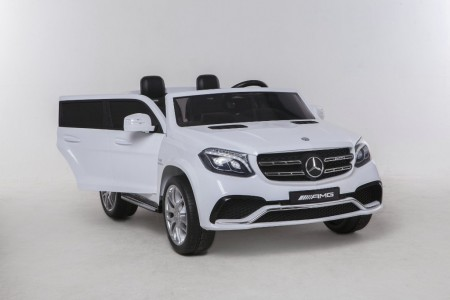 Mobil Aki Mercedes Benz GLS63 - Official Licensed - 2 Seater + Touchscreen TV + Leather Seat (WHITE)