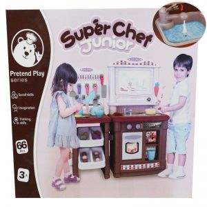 Super Chef Junior PINK / BROWN (BL101) (KRAN BISA KELUAR AIR) (PAPAN TULIS)