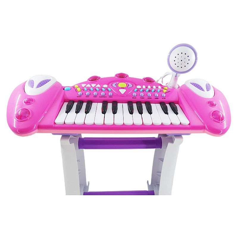 Tomindo Musical Keyboard Pink - mainan piano