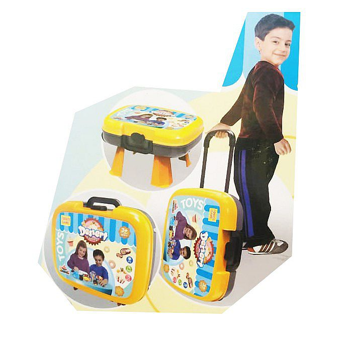 Tomindo Food Game Dessert Trolley Biru 36778-83 - mainan anak kue kuean