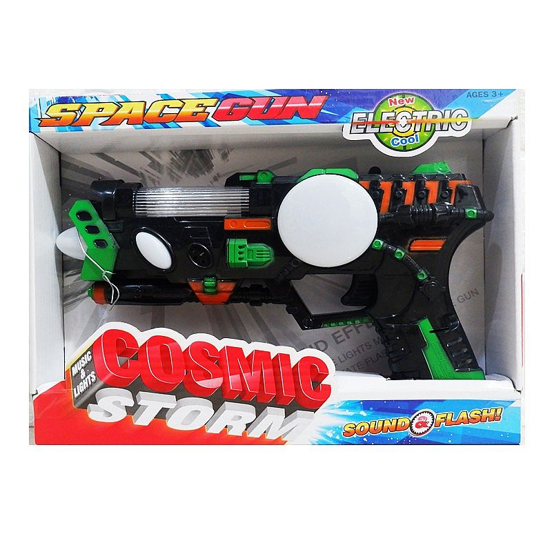 mainan pistol - SPACE GUN SOUND & LIGHT 369E - HITAM
