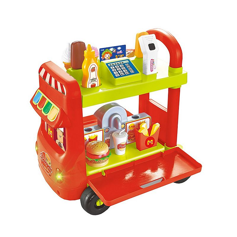 FAST FOOD CART TROLLEY W044