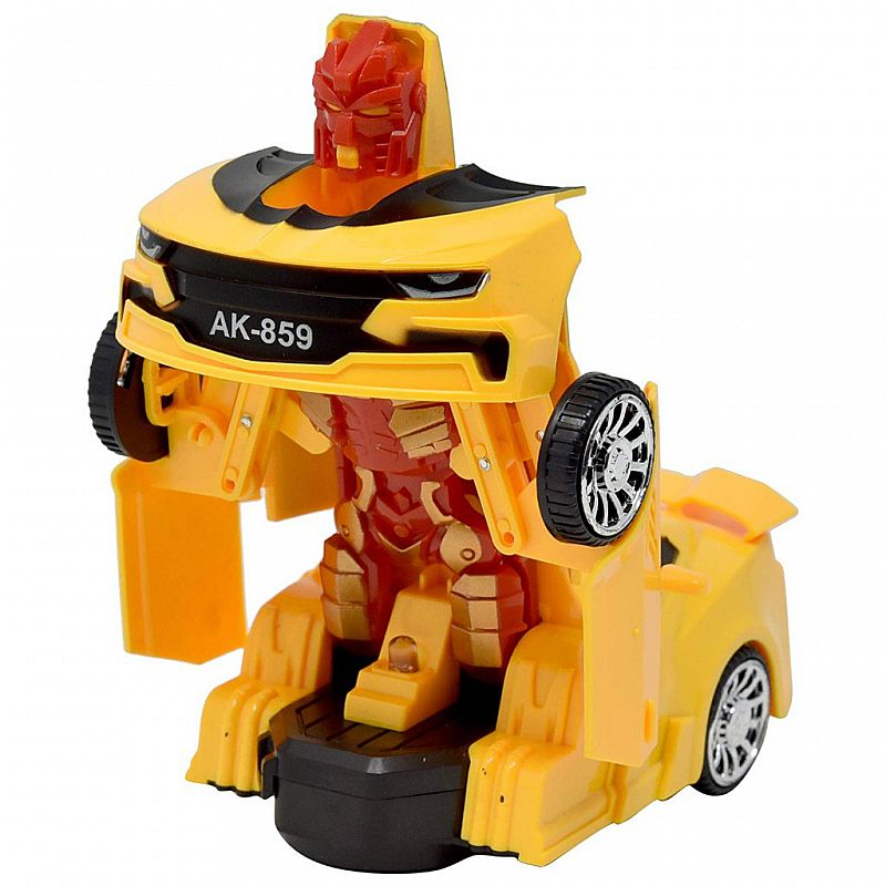 mainan robot - Super Car Deformation AK859 warna random